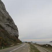 Kaum Verkehr, wir geniessen das Fahren entlang der Donau