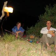 Abends bei angenehmen Temperaturen draussen sitzen, das geniessen wir sehr!