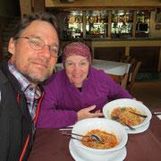 Spaghetti zu Mittag