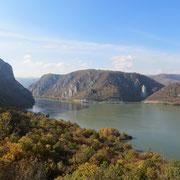 Das Eiserne Tor, Donaudurchbruch. Sicht auf das rumänische Ufer