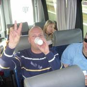 Beste Stimmung im Bus.