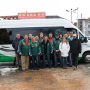 Das Team vor der Abfahrt in Schwerin.