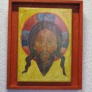 Christus. Mandalion. Nordrussland-Novgorod. Um 1600.