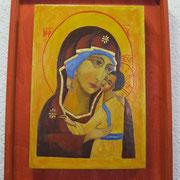 Maria Mutter Gottes. Umilenie. Novgorod, Anfang 15. Jhd.