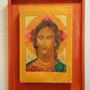 Christus - das Grimmige Auge.  Schule von Rostov, letztes Viertel des 15.Jhd.