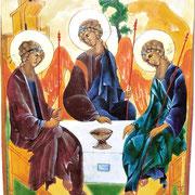 Heilige Dreifaltigkeit. Nach Andrej Rubljov. Um 1300-1430.