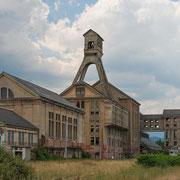 Fabrik im südlichen Elsass; Foto: Inge Straub