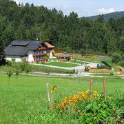 Blick auf das Haus Spannbauer