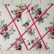 """Memoboard """"Rosen"""": Die blumige und farbige Alternative zur Korkplatte - für Notizzettel, Fotos etc."""