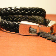 Bracelets cuir tressé 5 brins