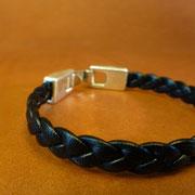 Bracelets cuir tressé 3 brins
