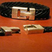 Bracelets cuir tressé 7 brins