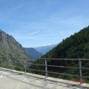 Vue sur les Alpes Valaisannes