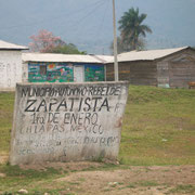 Zapatista sign.