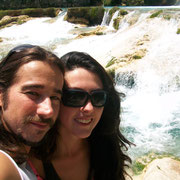 With El  meco waterfall behind