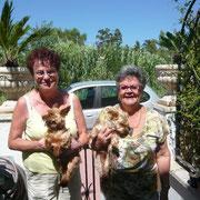 Braniff avec la maman de Nelly et Paz avec Peluche