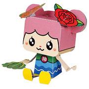 PMF-013  神戸町 マスコットキャラクター  ばら菜 岐阜県神戸町(ごうどちょう)HP  http://www.town.godo.gifu.jp/