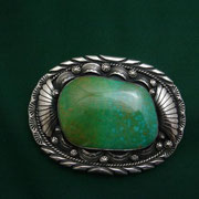 Mark Spencer [ Navajo ]  Turquoise Buckle