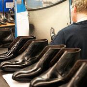 Jeder Schuh verfügt über eine leistungsfähige Imprägnierung.