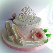 торт з діадемою(3кг)