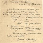 Déclaration d'un propriétaire pour la réquisition du grain sur la commune de Neuvic-Entier - avril 1917 (Archives municipales de Neuvic-Entier).