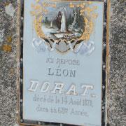 Une des plus belles plaques du Pays Monts et Barrages - Cimetière de Saint-Léonard-de-Noblat