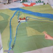 Atelier moulins du Pays d'art et d'histoire : zoom sur le site du Moulin du Got, pour en comprendre l'organisation et les éléments (vannes, écluses, canal d'amenée d'eau...)