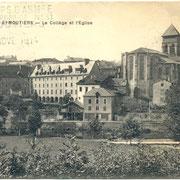 L'hôpital militaire n°31 d'Eymoutiers occupe l'ancien couvent des Ursulines (collection RIBOULET)
