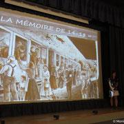Ciné-conférence au cinéma de Châteauneuf-la-Forêt - Intervention du Pays d'art et d'histoire (2015) - Photo Monique LAFARGE