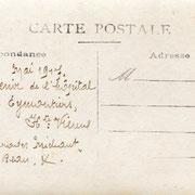 Au verso de la même carte postale se trouve la liste des convalescents (collection RIBOULET)
