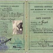 Carte de Thérésia de Joyet, infirmière à l'Hôpital Bénévole n°26 bis d'Eymoutiers (collection VIGNES)
