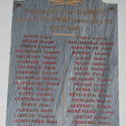 Plaque commémorative des Morts pour la France - Eglise de Domps