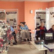 """Conférence autour de l'exposition """"14-18, Poussières de guerre"""" à l'EHPAD d'Eymoutiers - 2016"""
