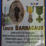Plaque funéraire d'un soldat Mort pour la France - Cimetière de Sussac