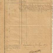 Ordre de réquisition des grains pour les besoins de l'armée (verso), adressé à la Mairie de Neuvic-Entier le 3 mai 1917 (Archives municipales de Neuvic-Entier).