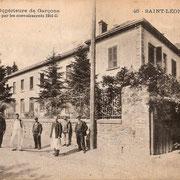 Autre hôpital militaire à Saint-Léonard-de-Noblat, aujourd'hui le lycée (collection FANTON)