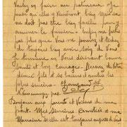 Lettre de Jean-Pierre Champeaud (de Domps) à ses parents le 21.04.1918, évoquant les travaux des champs (collection CHAMPEAUD).