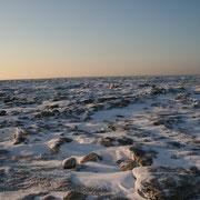 Ein Eisiger Morgen am Strand von Cuxhaven Duhnen