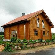 Massivholzhaus als Wohnhaus