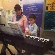 La nostra docente di Pianoforte Rosabinca Merico nella sede di Piazza Re di Roma