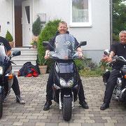 Erste Ausfahrt der drei Gründungsmitglieder 2009