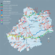 carte des rivières