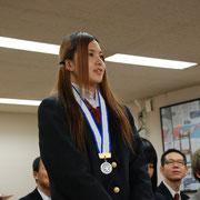 羽生高校 齋藤真希さん(陸上競技女子100mハードル第2位)
