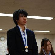 川口工業高校 小日向喬さん(自転車競技トラックの部4km速度競争第2位)