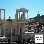 Das jahrtausendalte Römische Theater in Plovdiv, das auch heute für Konzerte benutzt wird.