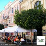 Kaffeetrinken in Plovdiv, Bulgarien