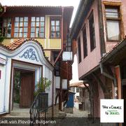 Wunderschöne Wiedergeburtshäuser in Plovdiv, Bulgarien
