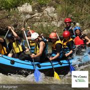 Rafting in Bulgarien - manchmal muss man sich eben etwas mehr anstrengen, damit es vorwärts geht.