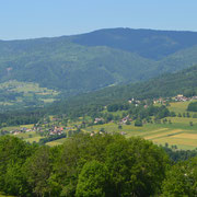 Vue des hauteurs de la Vallée Verte