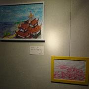 井田 文「いらかアマルフィーの風と共に Ⅰ」 「いらかアマルフィーの風と共に Ⅱ」コラージュ.絵画